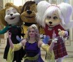 Лиза, Дружок и Роза Барбоскины ростовые куклы