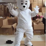 ростовая кукла белый медведь, ростовая кукла в аренду на сутки